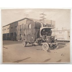 Truck Hauling Cotton Photograph