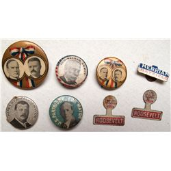 Collection of 8 political pins
