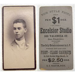 Excelsior Studio Photograph Advertising Business Card: Unusual