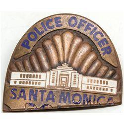 Santa Monica police officer's badge