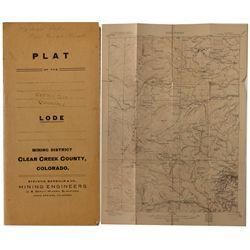Clear Creek Plat Map folder with Quadrangle map