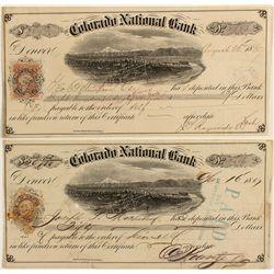 Colorado National Bank, Territorial Certificates of Deposit