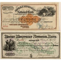 Rocky Mountain National Bank Check and Certificate of Deposit