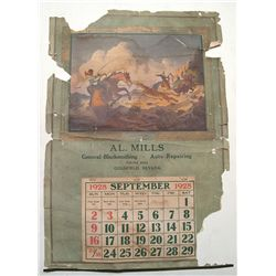 Al Mills, Blacksmith and Auto Repair 1928 Calendar