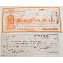 Savage and Consolidated Virginia mining companies