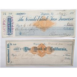 Two Different John Mackay Signed Checks