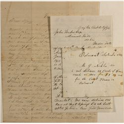 Three historic Nevada letters: Belmont, Unionville and Dayton