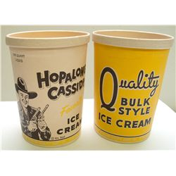 Hopalong Cassidy's One Quart Ice Cream Container