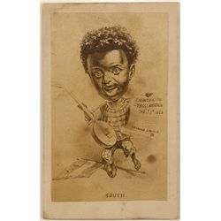 Negro Celebrating Em. Proc. Civil War CDV