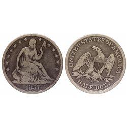 1857 S half dollar