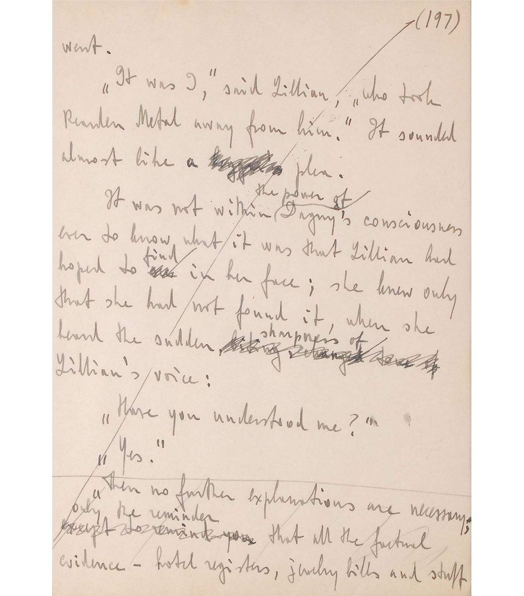 Ayn Rand Original Manuscript Page From Atlas Shrugged