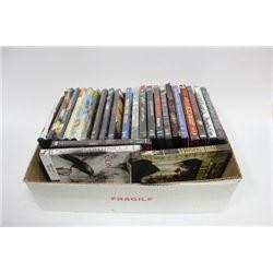 BOX WITH 25 DVD MOVIES ON CHOICE