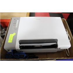 BOX WITH LEXMARK COLOUR PRINTER/SCANNER & CORDS