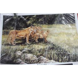 LION NUMBERED PRINT