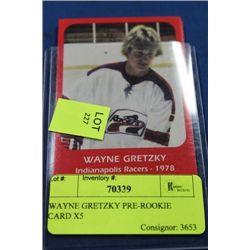 WAYNE GRETZKY PRE-ROOKIE CARD X5