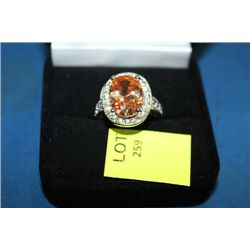 LADIES LAB CHAMPAGNE TOPAZ RING ON CHOICE : SZ 7