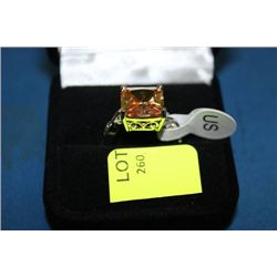 LADIES LAB CHAMPAGNE TOPAZ RING ON CHOICE : SZ 8