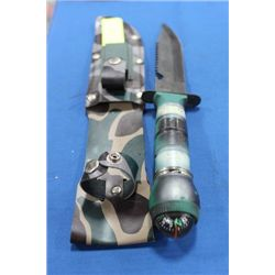CAMOUFLAGE KNIFE W CASE