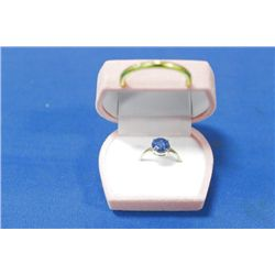 14 KT GOLD SAPPHIRE (1.00CTS) RING