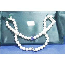 14 KT GOLD CLASP NATURAL PEARL NECKLACE