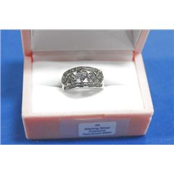 STERLING SILVER DIAMOND (0.2CTS) RING
