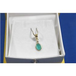 14 KT GOLD EMERALD (1.0CTS) AND DIAMOND (0.5CTS)