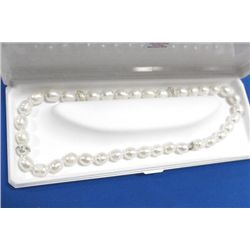 10 KT GOLD CLASP FRESH WATER PEARL NECKLACE