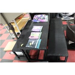 VINYL RATTAN PICNIC TABLE