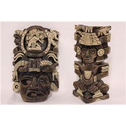 TWO(2) AZTEC ORNAMENTS