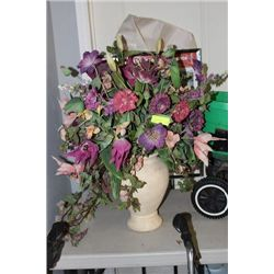 ARTIFICIAL FLOWER ARANGMENT WITH VASE