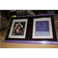 "PK OF 2 11"" X14"" SOLID WOOD PICTURE FRAMES"