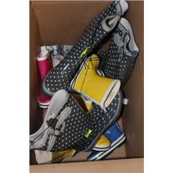 BOX W ADULT AND CHILDRENS RAIN BOOTS