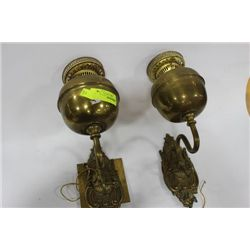 PR OF JOHN SCOTT ENGLISH WALL LAMPS