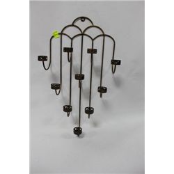 METAL CANDLE HOLDER WALL HANGING