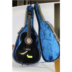 BK ACOUSTIC GUITAR WITH ELECTRIC PICKUP AND CASE