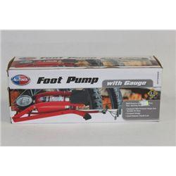NEW FOOT PUMP W/ GAUGE