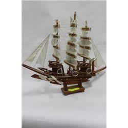HANDMADE VINTAGE WOOD SHIP