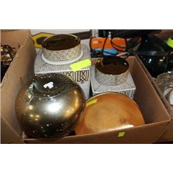 BOX W 2 CANISTERS/BOWL AND VASE SET