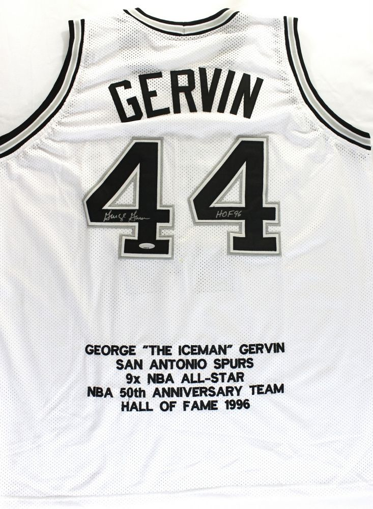 827759f48a1 Image 1 : George Gervin Signed Spurs Jersey Inscribed