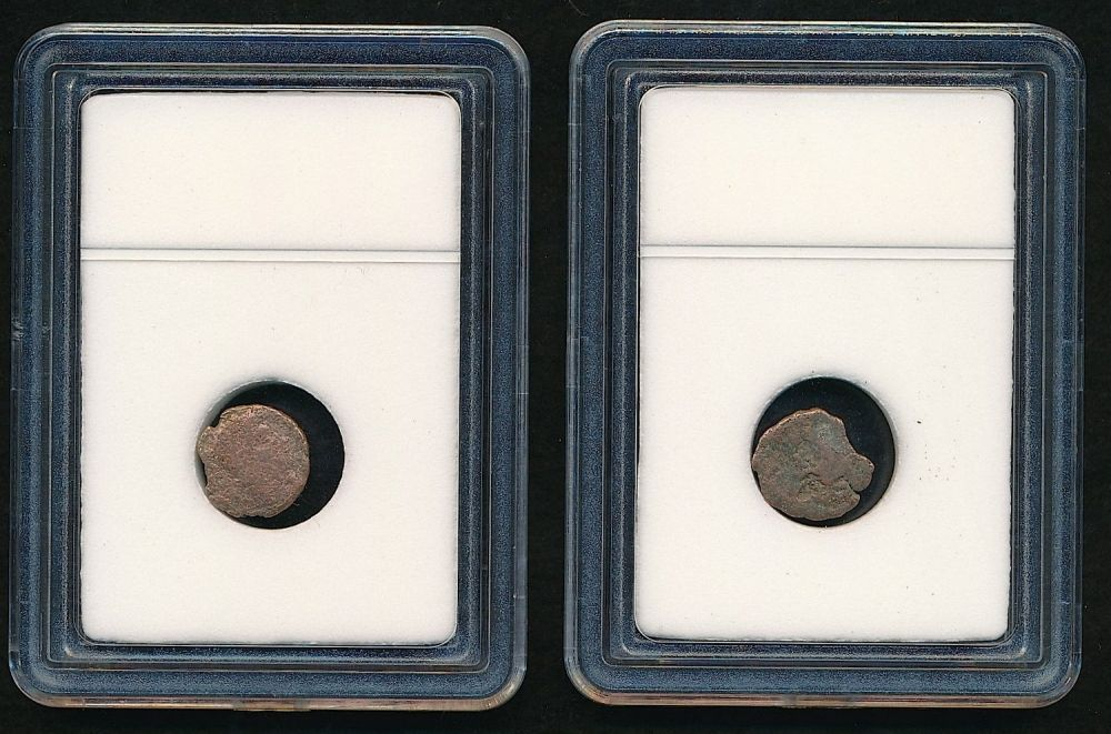 400 AD Slabbed Group of 5 Ancient Roman Widows Mite Sized Bronze Coins c 50 BC