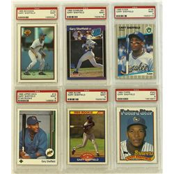 Lot Of 6 1989 Gary Sheffield Rookie Cards Psa 9