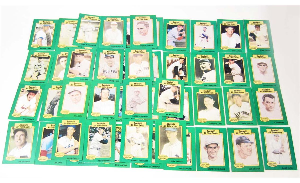 1987 Set Of 50 Hygrade All Time Greats Baseball Cards