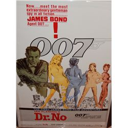 NO RESERVE! SEAN CONNERY JAMES BOND DR. NO SIGNED MOVIE POSTER
