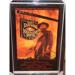NO RESERVE! CLINT EASTWOOD - HIGH PLAINS DRIFTER SIGNED MOVIE POSTER