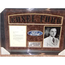 NO RESERVE! EDSEL FORD - RARE LETTER ON FORD STATIONARY