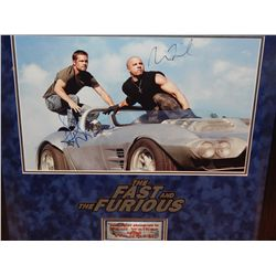 NO RESERVE! FAST & FURIOUS - CAST SIGNED IMAGE