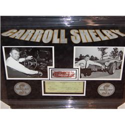 NO RESERVE! CARROLL SHELBY SIGNED BANK CHECK FROM 1963