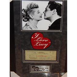 I LOVE LUCY - CHECK SIGNED BU DESI ARNAZ