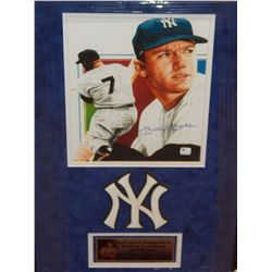 MICKEY MANTLE - SIGNED YANKEES IMAGE