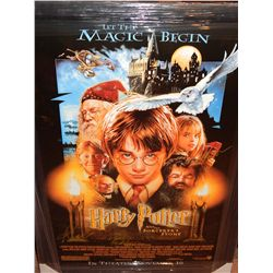 HARRY POTTER MOVIE POSTER - SIGNED